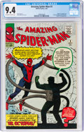Silver Age (1956-1969):Superhero, The Amazing Spider-Man #3 (Marvel, 1963) CGC NM 9.4 Off-white to white pages....