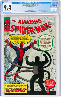 The Amazing Spider-Man #3 (Marvel, 1963) CGC NM 9.4 Off-white to white pages