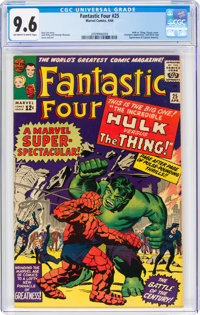 Fantastic Four #25 (Marvel, 1964) CGC NM+ 9.6 Off-white to white pages