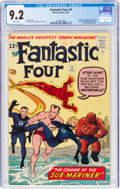 Silver Age (1956-1969):Superhero, Fantastic Four #4 (Marvel, 1962) CGC NM- 9.2 White pages.