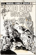 Original Comic Art:Covers, Gil Kane Kid Colt Outlaw #194 Cover Original Art (Marvel Comics, 1975)....
