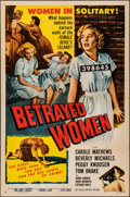 """Movie Posters:Crime, Betrayed Women (Allied Artists, 1955). Folded, Fine/Very Fine. One Sheet (27"""" X 41""""). Crime.. ..."""