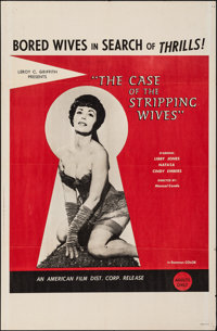 """The Case of the Stripping Wives (AFDC, 1966). Folded, Very Fine-. One Sheet (27"""" X 41""""). Adult"""