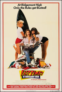 """Fast Times at Ridgemont High (Universal, 1982). Very Fine on Linen. One Sheet (27.25"""" X 40.5""""). Comedy"""