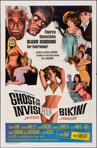 "Ghost in the Invisible Bikini (American International, 1966). Folded, Very Fine-. One Sheet (27"" X 41""). Comed..."
