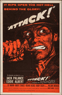 "Attack! & Other Lot (United Artists, 1956). Folded, Overall: Fine/Very Fine. One Sheets (2) (27"" X 41""..."