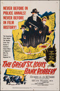 """Movie Posters:Crime, The Great St. Louis Bank Robbery & Other Lot (United Artists, 1959). Folded, Fine/Very Fine. One Sheets (2) (27"""" X 41""""). Cri... (Total: 2 Items)"""