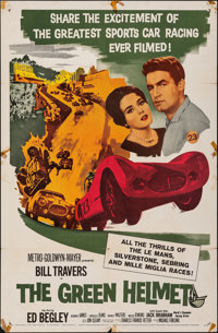 """The Green Helmet & Other Lot (MGM, 1961). Folded, Fine+. One Sheets (2) (27"""" X 41""""). Sports. ... (Total: 2..."""