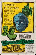 "Movie Posters:Science Fiction, Village of the Damned (MGM, 1960). Folded, Fine+. One Sheet (27"" X 41""). Science Fiction.. ..."