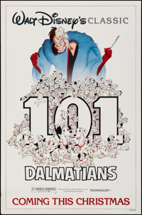 "101 Dalmatians & Other Lot (Buena Vista, R-1985). Rolled, Overall: Very Fine-. One Sheet (27"" X 41"") &..."