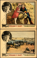 """Movie Posters:Western, Tumbleweeds (United Artists, 1925). Very Fine-. Lobby Cards (2) (11"""" X 14"""").. ... (Total: 2 Items)"""
