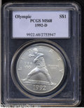 Modern Issues: , 1992-D S$1 Olympic Silver Dollar MS68 PCGS. ...