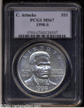 Modern Issues: , 1998-S S$1 Black Patriots Silver Dollar MS67 PCGS. ...
