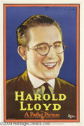 Movie Posters:Comedy, Harold Lloyd Personality Portrait (Pathe', 1921)....