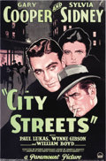 Movie Posters:Film Noir, City Streets (Paramount, 1931)....
