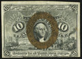Fractional Currency:Second Issue, Back Plate Number at Upper Left Fr. 1246 10¢ Second Issue Extremely Fine.. ...