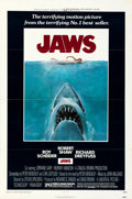 "Movie Posters:Horror, Jaws (Universal, 1975). Folded, Very Fine-. One Sheet (27"" X 41""). Roger Kastel Artwork.. ..."