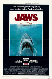 "Jaws (Universal, 1975). Folded, Very Fine-. One Sheet (27"" X 41""). Roger Kastel Artwork"