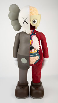 KAWS (b. 1974) 4FT Dissected Companion, 2009 Fiber-reinforced plastic 50 x 20-1/2 x 13 inches (12