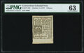 Colonial Notes:Connecticut, Connecticut October 11, 1777 4d PMG Choice Uncirculated 63.. ...
