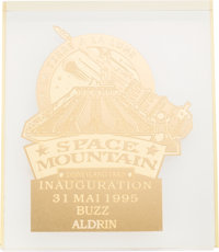 Buzz Aldrin's Disneyland Paris Space Mountain Opening Display, Originally from His Personal Collection