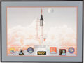 Explorers:Space Exploration, Mercury Seven Astronauts: Limited Edition, #1261/1500, Color Print by George Bishop Signed by Six Astronauts plus Betty Grisso...