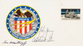 Explorers:Space Exploration, Apollo 16 Crew-Signed Cover (Not Cancelled). ...