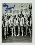 Explorers:Space Exploration, Mercury Seven: Silver Spacesuit Photo Signed by Six (Missing Grissom). ...