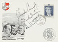 Explorers:Space Exploration, Apollo 12 Crew-Signed Austrian Cover from the 1970 World Tour, a Gift from Dick and Barbara Gordon to Artist Paul Calle. ...