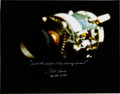 Explorers:Space Exploration, Fred Haise Signed Large Apollo 13 Damaged Service Module Color Photo. ...