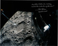 Explorers, Fred Haise Signed Large Apollo 13 Lunar Surface Color Photo. ...