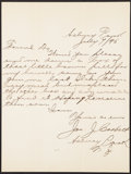 Autographs:Letters, 1895 James J. Corbett Signed Letter & Cabinet Photograph.