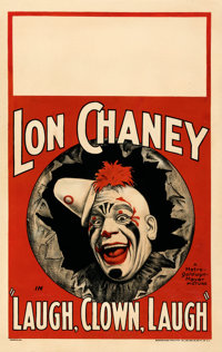 """Laugh, Clown, Laugh (MGM, 1928). Fine+ on Cardstock. Window Card (14"""" X 22"""")"""