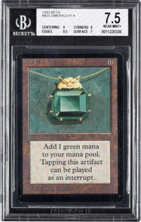 Magic: The Gathering Beta Edition Mox Emerald BGS 7.5 (Wizards of the Coast, 1993)