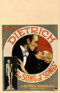 "The Song of Songs (Paramount, 1933). Fine on Cardstock. Window Card (14"" X 22""). Drama"