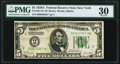 Small Size:Federal Reserve Notes, Fr. 1951-B* $5 1928A Federal Reserve Note. PMG Very Fine 30.. ...
