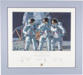 "Explorers:Space Exploration, Alan Bean Signed Limited Edition, #8/1000, ""Conrad, Gordon, and Bean: The Fantasy"" Color Print also Signed by Charles Conrad a..."