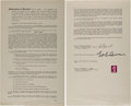 "Music Memorabilia:Documents, John Lennon and Neil Aspinall Signed Publishing Agreement for The Beatles' ""Sexy Sadie"" (1968)...."