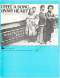 """Music Memorabilia:Autographs and Signed Items, Gladys Knight and the Pips Signed """"I Feel a Song (In My Heart)"""" Sheet Music (1974). ..."""