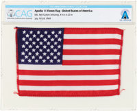 Apollo 11 Flown American Flag Directly From The Armstrong Family Collection™, CAG Certified