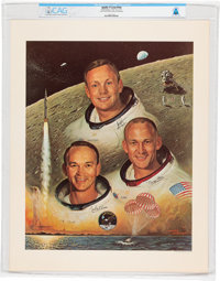 Apollo 11: Crew Color Print Directly From The Armstrong Family Collection™, CAG Certified