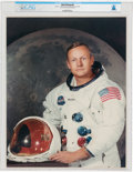 Explorers:Space Exploration, NASA: Neil Armstrong Original NASA White Spacesuit Large Color Photo Directly From The Armstrong Family Collection™, CAG C...