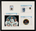 Explorers:Space Exploration, Apollo 11: Special Framed Presentation including a Manned Flight Awareness Medal MS67 NGC (1 of 100 Issued to Armstrong), a La...