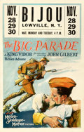 "Movie Posters:War, The Big Parade (MGM, 1925). Fine+ on Cardstock. Window Card (14"" X 22"").. ..."