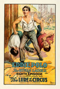 """Movie Posters:Serial, Lure of the Circus (Universal, 1918). Good/Very Good on Linen. One Sheet (28.25"""" X 42"""") Chapter 8 -- """"The Human Ladder."""". ..."""