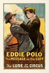 """Lure of the Circus (Universal, 1918). Very Good/Fine on Linen. One Sheet (28.5"""" X 42"""") Chapter 4 - """"The M..."""