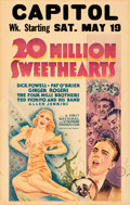 """Movie Posters:Musical, 20 Million Sweethearts (First National, 1934). Fine/Very Fine. Window Card (14"""" X 22"""").. ..."""
