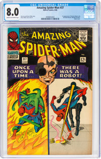 The Amazing Spider-Man #37 (Marvel, 1966) CGC VF 8.0 Cream to off-white pages