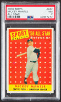 Baseball Cards:Singles (1950-1959), 1958 Topps Mickey Mantle All Star #487 PSA NM 7....