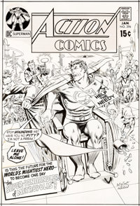 Carmine Infantino and Murphy Anderson Action Comics #396 Superman Cover Original Art (DC, 1971)